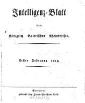 Intelligenzblatt des Rheinkreises: Band 1