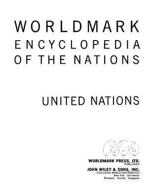Worldmark Encyclopedia of the Nations Five Volume Set
