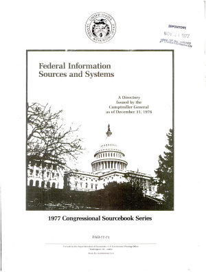 Federal Information Sources and Systems