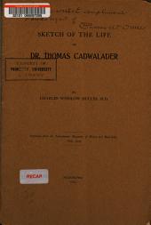 Sketch of the Life of Dr. Thomas Cadwalader