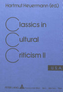 Download Classics in Cultural Criticism  U S A Book