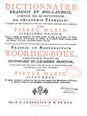 Dictionnaire hollandais-français et français-hollandais par Pierre Marin