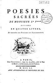 Poésies sacrées de Monsieur L*** F*** [i.e. Le Franc de Pompignan] divisées en quatre livres et ornées de figures en taille-douce