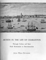 Artists in the Life of Charleston  Through Colony and State  from Restoration to Reconstruction PDF