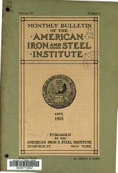 Bulletin of the American Iron and Steel Institute: Volume 3, Issue 4