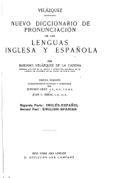 A New Pronouncing Dictionary Of The Spanish And English Languages Book PDF