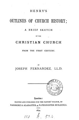 Henry s outlines of Church history