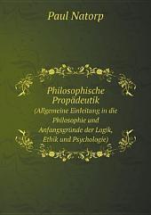 Philosophische Prop?deutik