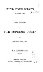 United States Reports: Cases Adjudged in the Supreme Court, Volume 160