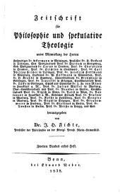 Zeitschrift für Philosophie und spekulative Theologie: Band 2