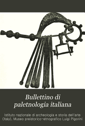 Bullettino di paletnologia italiana: Volumi 26-27
