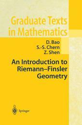 An Introduction to Riemann-Finsler Geometry