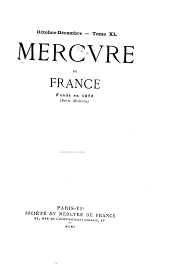 Mercure de France: Volume 40