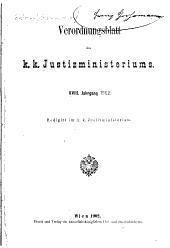 Verordnungsblatt de K.K. Justizministeriums: Band 18