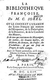 La Bibliothèque françoise de M. C. Sorel
