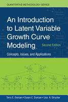 An Introduction to Latent Variable Growth Curve Modeling PDF