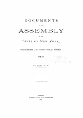 Documents of the Assembly of the State of New York: Volume 31