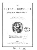 The Bridal Bouquet Culled in the Garden of Literature