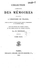 Collection complète des mémoires relatifs à l'histoire de France: depuis le règne de Philippe-Auguste, jusqu'au commencement du dix-septième siècle. Duvillars, troisième partie, Volume30