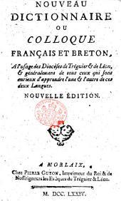 Nouveau dictionnaire ou Colloque françois et breton ... Quatrième édition