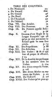 Grammaire générale et raisonné: contenant les fondemens de l'art de parler ; expliquéz d'une maniere claire [et] naturelle ... ... et plusieurs remarques nouvelles sur la langue françoise