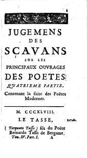 Contenant Les Poetes ; Quatrième Partie: Volume 4