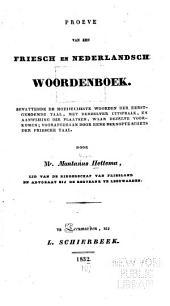 Proeve van een friesch en Nederlandsch woordenboek