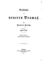 Geschichte des neueren Dramas: Das Neuere Drama in Frankreich. IV. Bd
