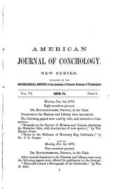 American Journal of Conchology: Volume 6