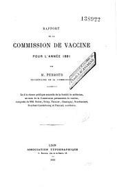Rapports de la Commission de Vaccine du Rhône pour les années de 1868 à 1881
