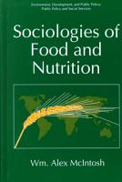 Sociologies of Food and Nutrition PDF