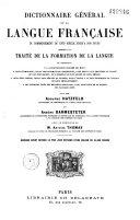 Dictionnaire général de la langue française du commencement du XVIIe siècle jusqu'à nos jours: Volume1