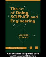 Art of Doing Science and Engineering PDF