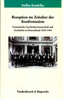 Rezeption im Zeitalter der Konfrontation PDF