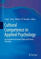Cultural Competence in Applied Psychology PDF
