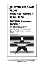 Selected Readings from Military Thought, 1963-1973