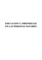 Educación y aprendizaje en las personas mayores
