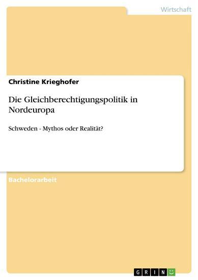 Die Gleichberechtigungspolitik in Nordeuropa PDF