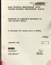 Response of Composite Materials to Low Velocity Impact PDF