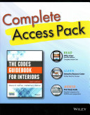 The Codes Guidebook for Interiors  Sixth Edition Complete Access Pack with Wiley E Text  Study Guide 6e  and Interactive Resource Center Access Card