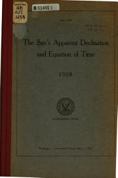The Sun's Declination and Equation of Time: Tables of Sunset and Sunrise ...