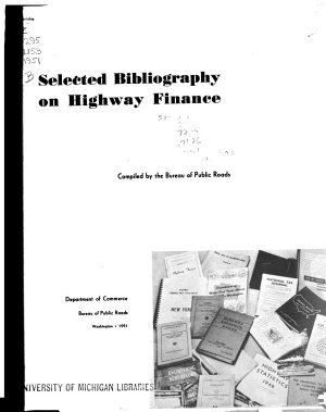 Selected Bibliography on Highway Finance PDF