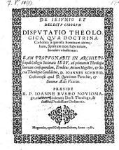 De jejunio et delectu ciborum disputatio theologica, respondente Joanne Schneid