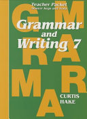 Saxon Grammar   Writing Grade 7 Teacher Packet PDF