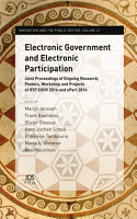 Electronic Government and Electronic Participation PDF