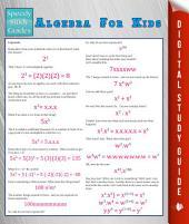 Algebra For Kids (Speedy Study Guide)
