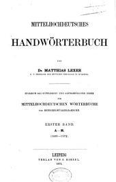Mittelhochdeutsches Handwörterbuch