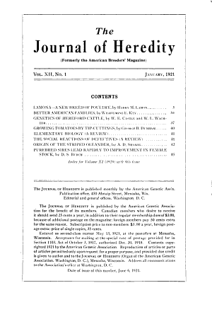 The Journal of Heredity PDF