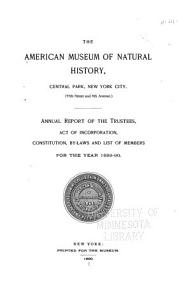 Annual Report     American Museum of Natural History PDF