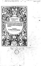 In hoc libro cintinetur